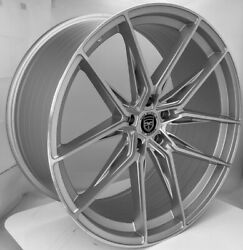 4 Hp1 22 Inch Staggered Silver Rims Fits Dodge Charger Srt 392 W/6-piston Calipe
