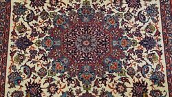 Antique Silk And Wool With Silk Foundation Hand Knotted Oriental Rug 4.10 X 7.5