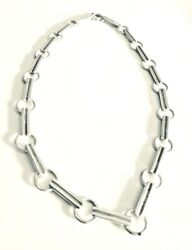 And Co. Picasso Sterling Silver Groove Tenderness Heart Link Necklace