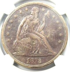 1872-s Seated Liberty Silver Dollar 1 Coin - Ngc Au Details - Rare S Mint