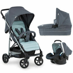 Hauck Rapid 4 Plus Trio Set Pushchair / Stroller Carrycot And Car Seat