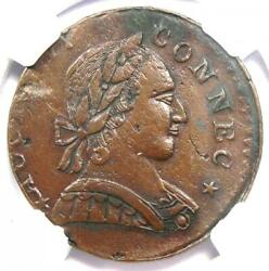 1788 Mailed Bust Right Connecticut Colonial Copper Coin - Ngc Au Details