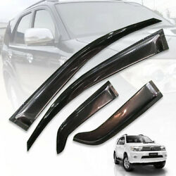 Rain Visor Weather Guard Windshield Carbon Fit Toyota Fortuner Sw4 Suv 05-11