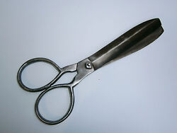 Famous Owner Antique Big 19c. Early Primitive Hand Forged Scissors Shears 1887