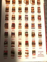 Budweiser Holiday Stein Collection 1980 To 2020
