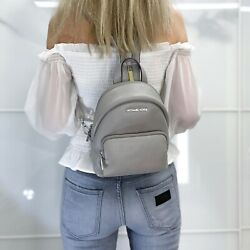 MICHAEL KORS ERIN SMALL CONVERTIBLE LEATHER BACKPACK PEARL GREY $78.00