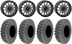 System 3 Sb-5 Grey 15 Wheels 35 X-rox Dd Tires Honda Pioneer 1000 / Talon