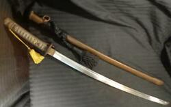 Vintage 1940and039s Japanese Wwii Army Officers Katana Sword And Scabbard Numbered Rare