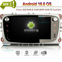 Android 10.0 Car Radio Stereo Bt Gps Sat Navi For Ford Mondeo Focus S-max C-max