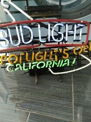Extremely Rare Collectible Bud Light Spotlightand039s On California Neon Light