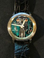 Restored 1967 Accutron 214 Gold Fill Chapter Ring Spaceview Watch Numbers Match