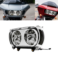 Led Dual Headlight And Turn Signal Side Light For Harley Road Glide Fltr 15-19 Us