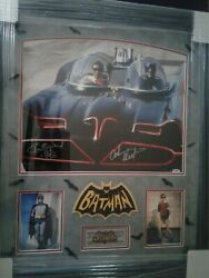 Batman Adam West And Burt Ward Signed 16 X 20 Photo With 2 C.o.a.and039s