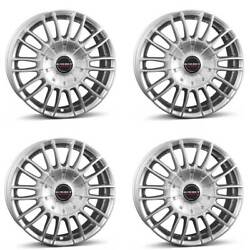 4 Borbet Wheels Cw3 9.0x20 Et35 5x112 Sil For Bentley Continental