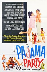 Pajama Party 1964 Original Movie Poster 1- Sheet - Annette Funicello Tommy Kirk
