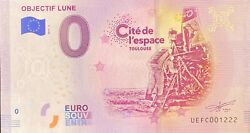 Ticket 0 Zero Euro Lens Moon And Space France 2019 Number Various