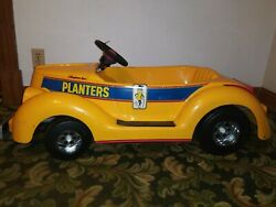 Vtg Kingsbury Pedal Car Roadster Yellow Planters Peanut 30s 40s 50s Ford Chevy