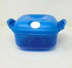 Tupperware Heat N Serve Microwave Container 5 Cup Blue Surf New