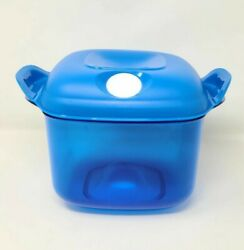 Tupperware Heat N Serve Microwave Container 8 Cup Blue Surf New