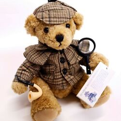 Sherlock Holmes, Great British Teddy Bear Collectable, Rare, With Original Tags