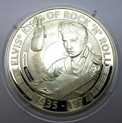Cook Islands 5 Dollars 2007 Silver Proof Elvis Presley - Thatand039s All Right T68