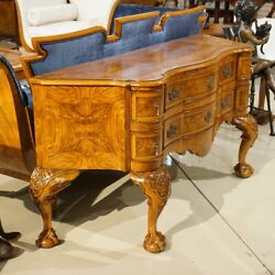 Ash Wood Ball And Claw Wall Console Sideboard Server