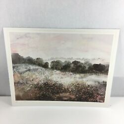 Janet Rogers Signed Colour Print A Cotswold Pasture Limited Edition 442/500 1986