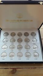 Japan 1976 Glory Steam Locomotive Primary Limited Edition 20 Silver Medal Set