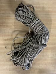 3/16andrdquo X 115 Ft. Diamond Braid Mfp Rope Hank. Jute. Made In Usa
