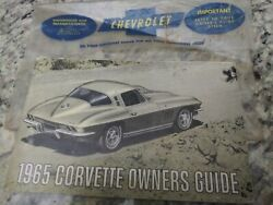 1965 1st Edition Original Corvette Owners Manual With Full Corvette News Card