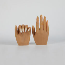 Poseable Nail Art Practice Hands Silicone Realistic Mannequin For Acrylic Nails