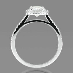 F/si1 Round Cut Diamond Engagement Ring 1.65 Ct 18k Yellow Gold Gorgeous