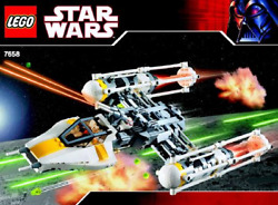 Instructions Only Lego Y-wing Starfighter 7658 Book Manual From Set Fighter
