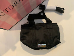 Victoria#x27;s Secret PINK Mini Bucket Bag Black Pure Black Small Crossbody NWT NIP $15.00