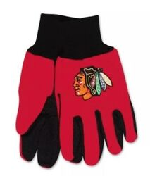 Chicago Blackhawks Colored Palm Utility Gloves