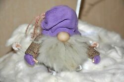 Gnome Christmas Toy Doll Soft Small Skier Home Decor Gift Hand Made New