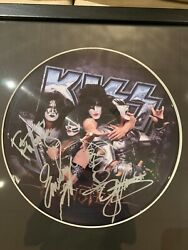 Kiss Signed Picture Disc Monster Album Psa/dna