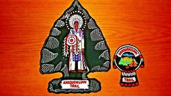 Lot Of 2 Vintage 1960's Bsa Patches - Amaquonsippi Trail - Boy Scout Collectible