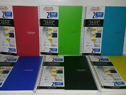 Lot Of 2 Mead Five Star 2 Subject College Ruled Notebook 120 Sheets 11 In X 8.5 $9.99