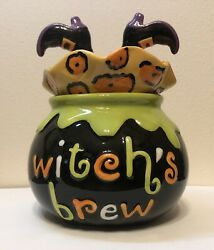 Cracker Barrel Masquerade Party Dish Witch's Brew Halloween Bowl Imperfection