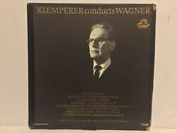 Klemperer Conducts Wagner Ex Orig 1960 Red Label Angel 3610 B 2lp Box Book