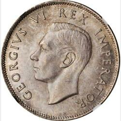 1941 South Africa 2.5 Shillings. Ngc Ms 63. Km-30. Single Finest Graded.