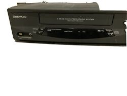 Daewoo Dv-t5dn Video Cassette Recorder Vcr Vhs Player 4 Head No Remote Tested