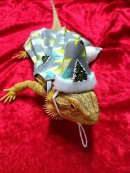 CHRISTMAS COLLECTION Bearded dragon Dress and hat MADE IN USA