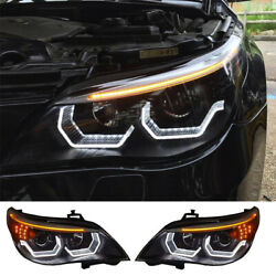 For Bmw E60 Headlights Assembly 2008-2010 Bi-xenon Lens Projector Led Drl 2pcs