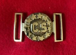 Reproduction Civil War Confederate State 2-piece Belt Plate With Stars-a