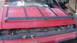 1984 Pontiac Fiero 2m4 Red Rear Trunk Lid No Luggage Rack Included No Shipping