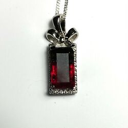 2.15ct Natural Watermelon Tourmaline 925 Sterling Silver 9ct 14k Gold Pendant