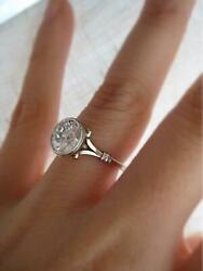 Diamond Solitaire Engagement Gifts Ring In 925 Sterling Silver