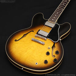 Gibson Es-335 Dot Tobacco Sunburst Semi-hollow Body With Hard Case From Japan